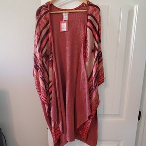 Mossimo Open Front Poncho